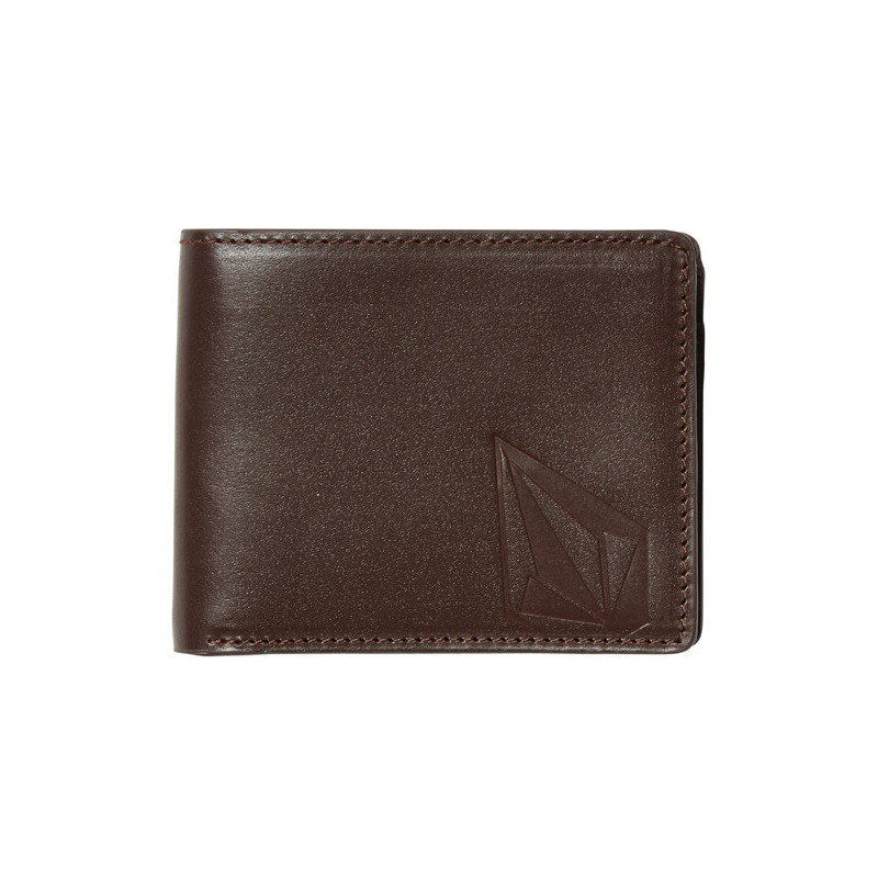 Cartera Volcom: STRAIGHT LTH WALLET (BROWN)