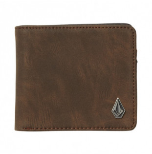 Cartera Volcom: SLIM STONE PU WLT (BROWN)