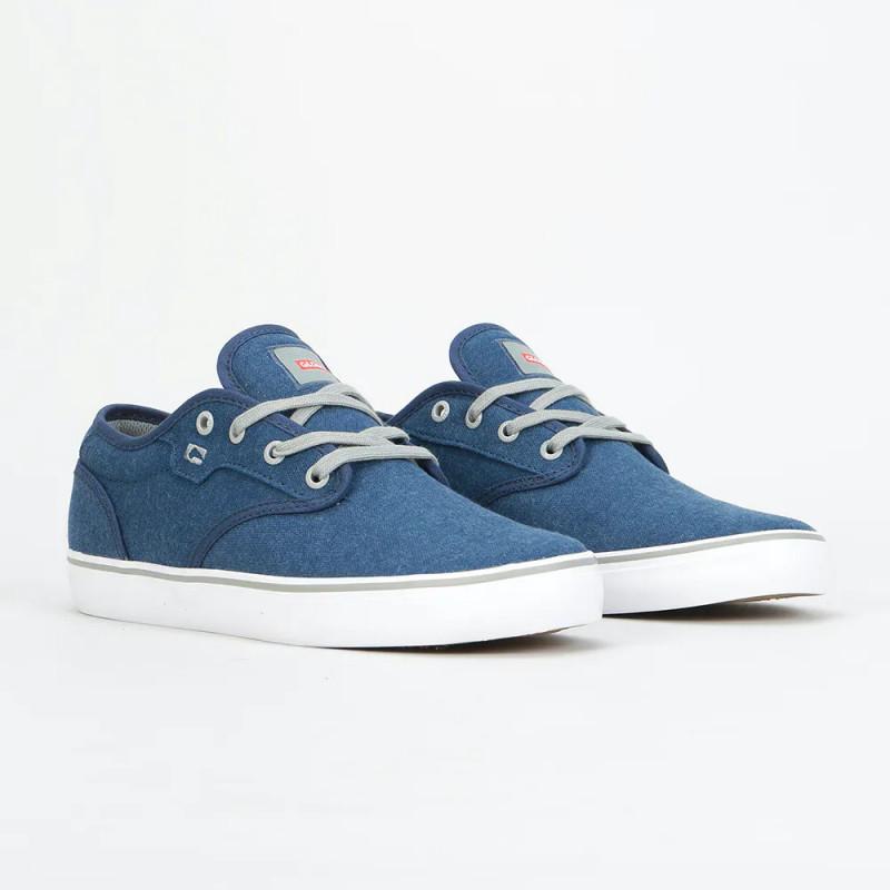 Zapatillas Globe: Motley (Blue Canvas Grey)