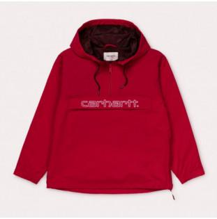 Chaqueta Carhartt: W Carhartt Script Pullover (Cardinal Wht)