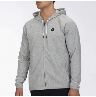 Sudadera Hurley: DF UNIVERSAL FLEECE FZ (DARK GREY HEATHER)