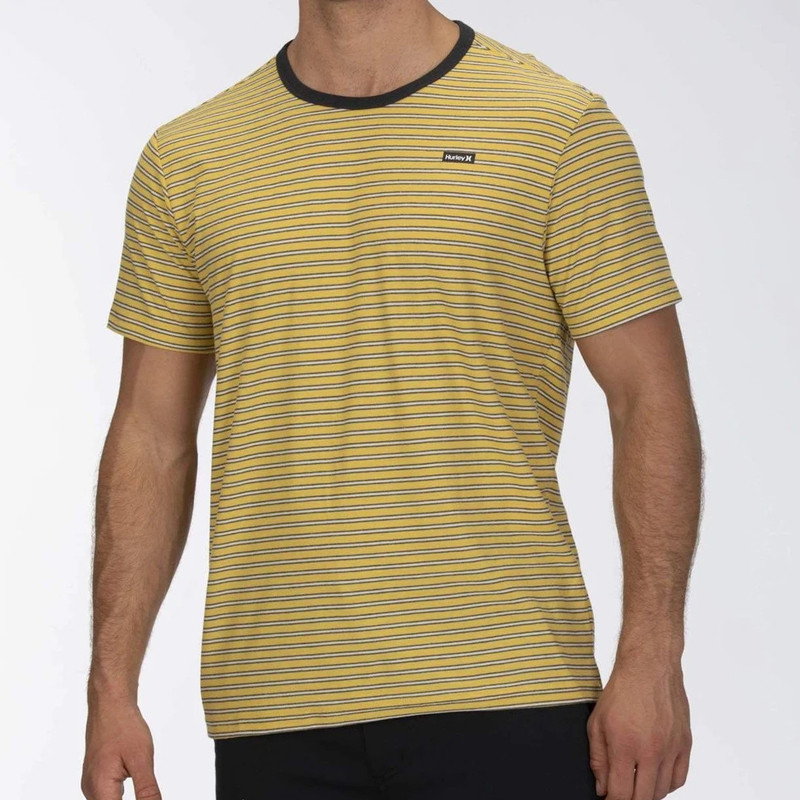 Camiseta Hurley: FEEDER STRIPE SS (INFINITE GOLD)