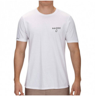 Camiseta Hurley: SURF AND ENJOY SS (WHITE)