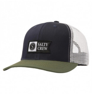 Gorra Salty Crew: Pinnacle Retro Trucker (Navy Olive)