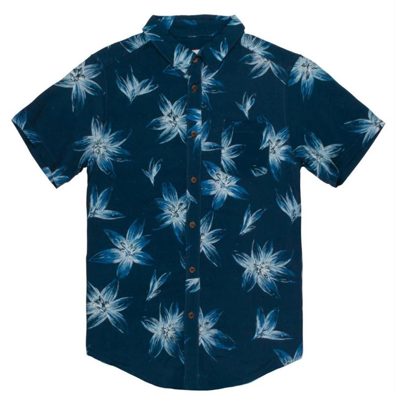 Camisa Rhythm: SOUTH PACIFIC SS SHIRT (Indigo)