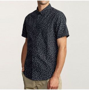Camisa RVCA: THATLL DO PRINT SS (BLACK/WHITE) RVCA - 1
