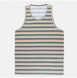 Camiseta Rhythm: EVERYDAY STRIPE SINGLET (Teal)