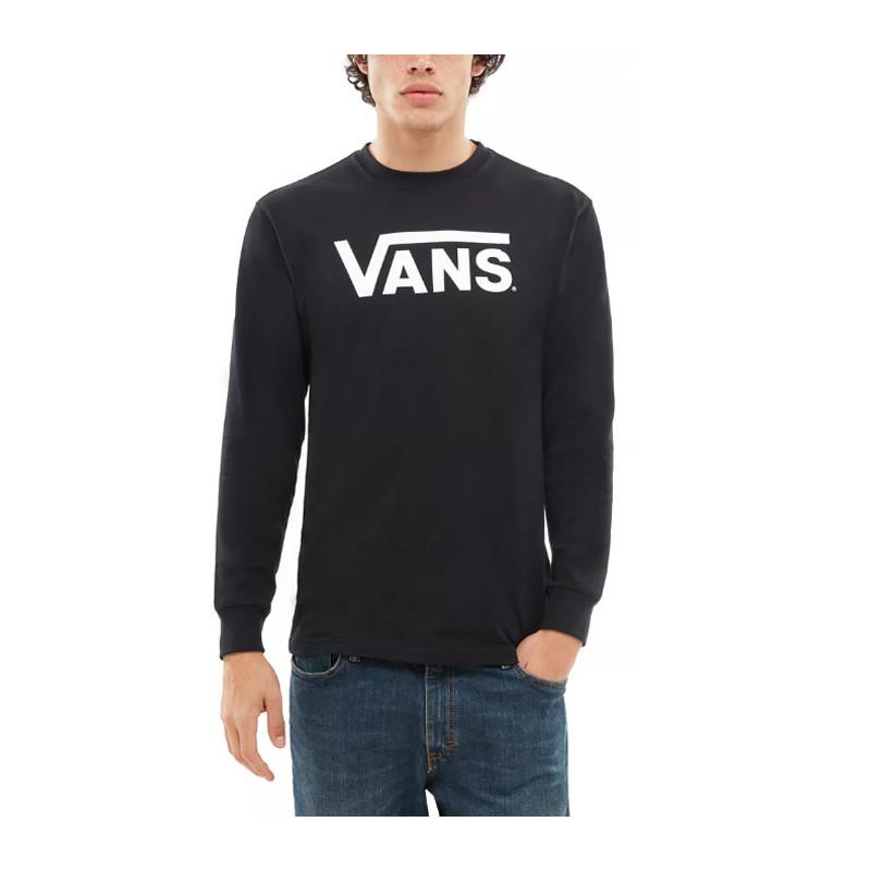 Camiseta Vans: MN VANS CLASSIC LS (BLACK WHITE)
