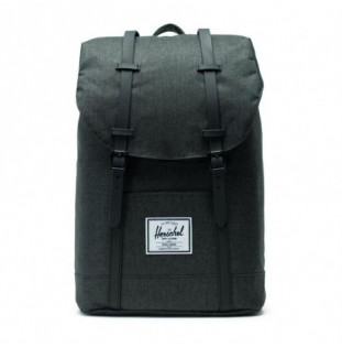 Mochila Herschel: Retreat (Black Crosshatch Black Rubber) Herschel - 1