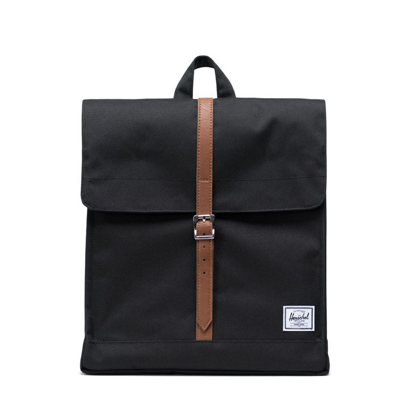 Mochila Herschel: City Mid Volume (Black Tan Synth Leather)