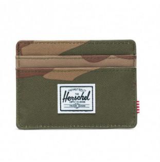 Cartera Herschel: Charlie RFID (Woodland Camo)