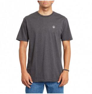 Camiseta Volcom: CIRCLE BLANKS HTH SS (HEATHER BLACK)