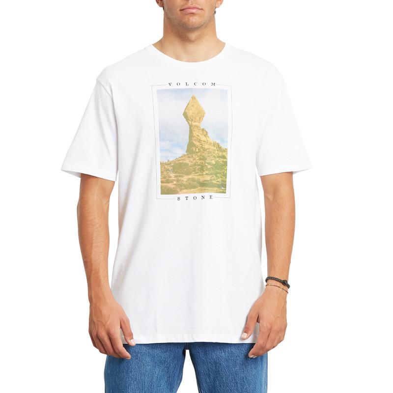Camiseta Volcom: STONE STACK FTY SS (WHITE)