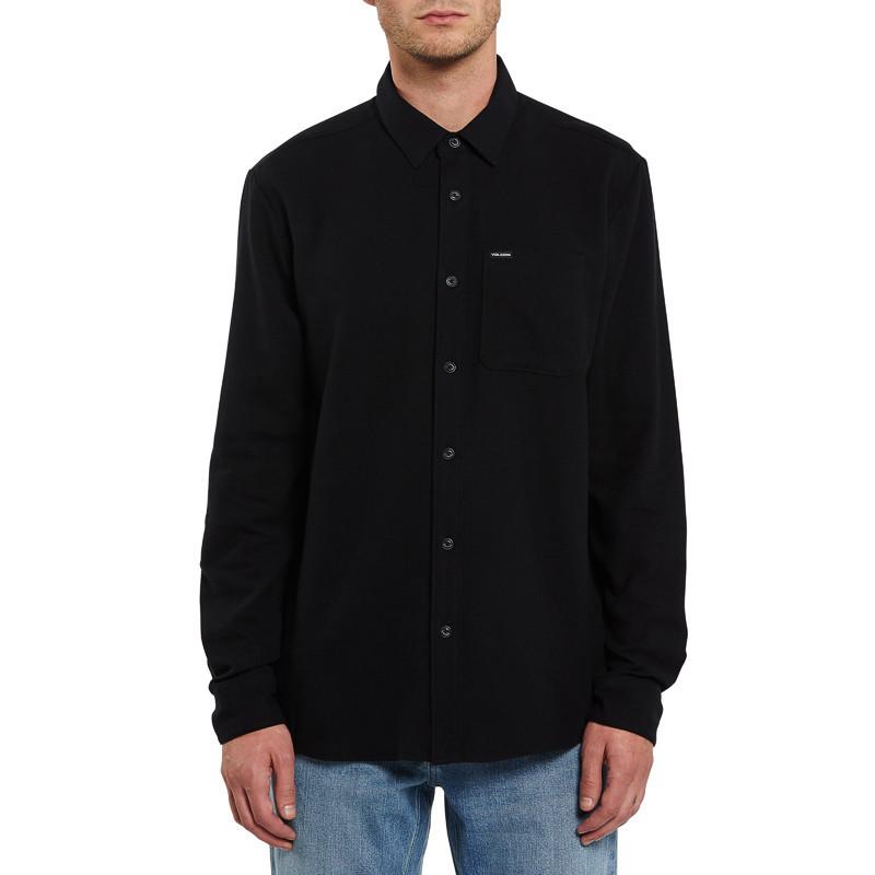 Camisa Volcom: CADEN SOLID L/S (BLACK)