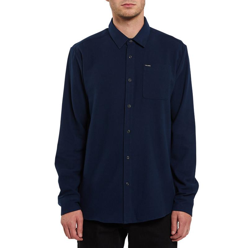Camisa Volcom: CADEN SOLID L/S (NAVY)