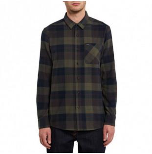 Camisa Volcom: CADEN PLAID L/S (ARMY GREEN COMBO)