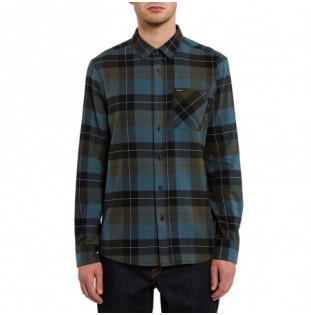 Camisa Volcom: CADEN PLAID L/S (MILITARY)