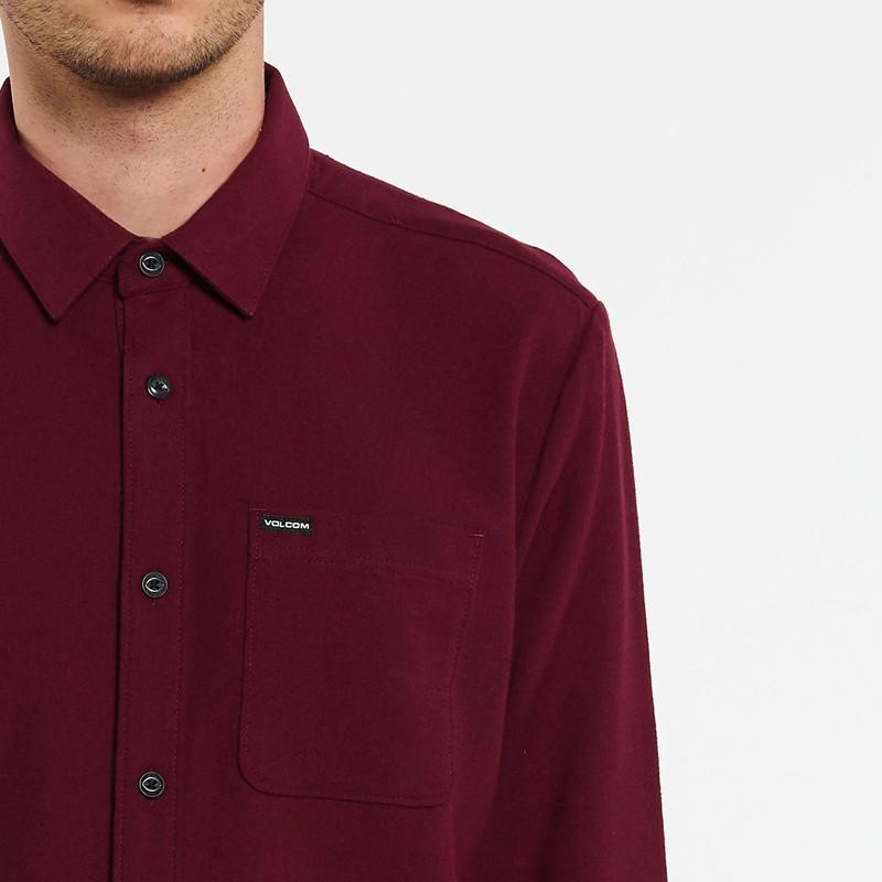 Camisa Volcom: CADEN SOLID L/S (PORT)