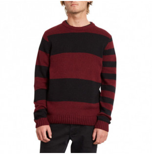 Jersey Volcom: EDMONDER STRIPED SWEATER (PORT) Volcom - 1