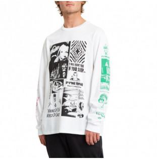 Camiseta Volcom: BITS OF BRAIN BSC LS (WHITE) Volcom - 1