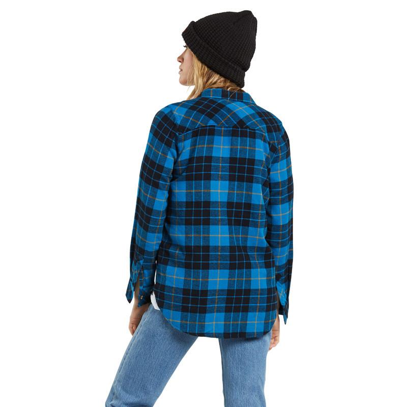 Camisa Volcom: GETTING RAD PLAID LS (TURKISH BLUE)