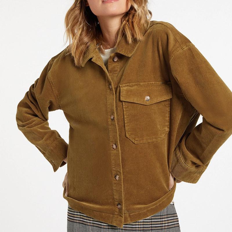 Camisa Volcom: SHA LALA SHACKET (VINTAGE GOLD)