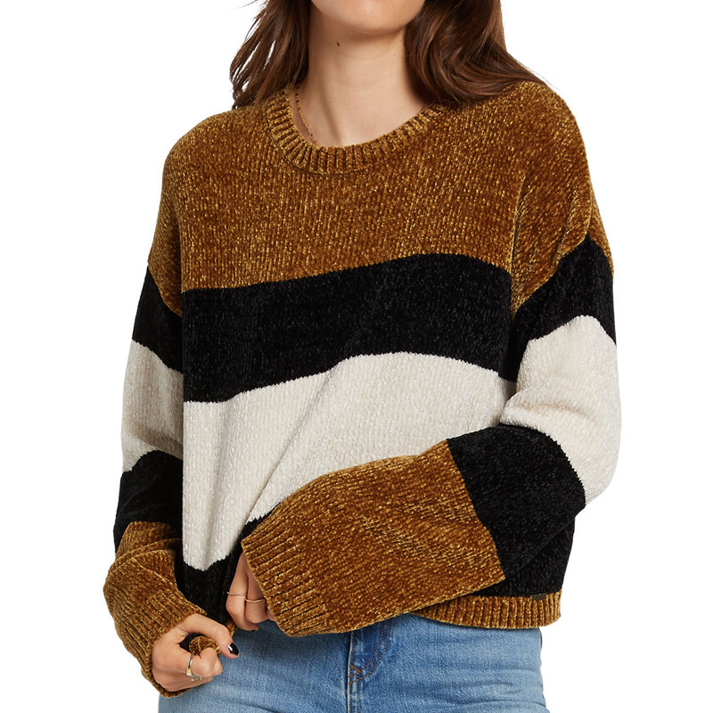 Jersey Volcom: BUBBLE TEA SWEATER (VINTAGE GOLD)