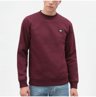 Sudadera Dickies: NEW JERSEY REGULAR SWEATSHIRT (MAROON)