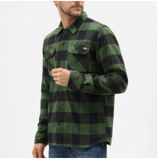 Camisa Dickies: SACRAMENTO RELAXED LS SHIRT (PINE GREEN) Dickies - 1