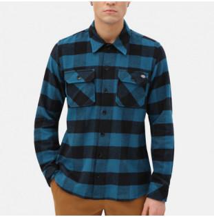 Camisa Dickies: SACRAMENTO RELAXED LS SHIRT (CORAL BLUE)