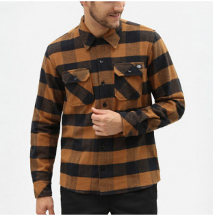 Camisa Dickies: SACRAMENTO RELAXED LS SHIRT (BROWN DUCK)