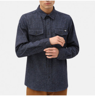 Camisa Dickies: WOODMERE SHIRT (DARK BLUE)