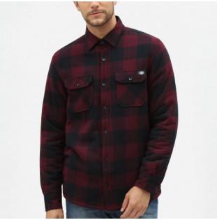 Camisa Dickies: LANSDALE RELAXED FIT OVERSHIRT (MAROON) Dickies - 1