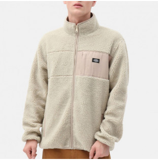 Sudadera Dickies: RED CHUTE SHERPA ZIP THROUGH (LIGHT TAUPE)