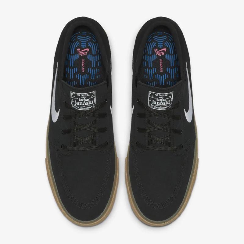 Zapatillas Nike: Zoom Janoski RM (BLK WHT BLK GUM LGT BRW)
