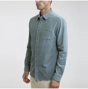 Camisa Rhythm: CORDUROY LS SHIRT (Mineral Blue) Rhythm - 1