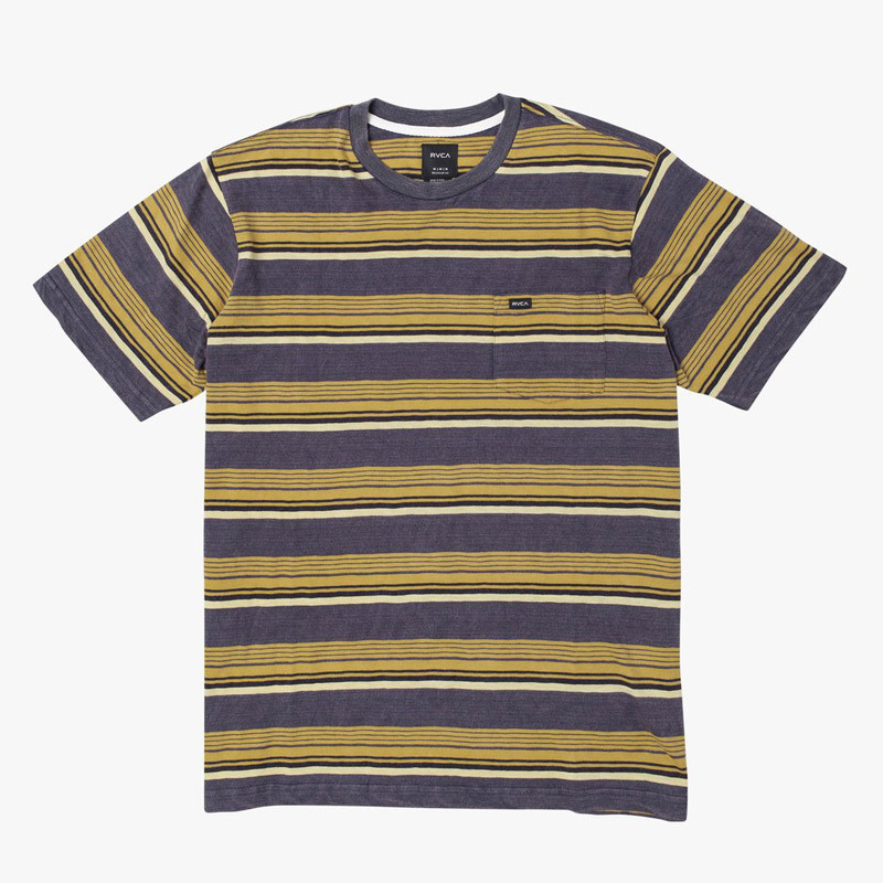 Camiseta RVCA: VENTURA STRIPE SS (MOODY BLUE)