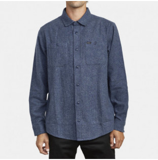 Camisa RVCA: HARVEST FLANNEL LS (MOODY BLUE) RVCA - 1