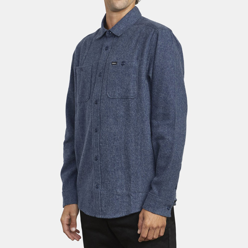 Camisa RVCA: HARVEST FLANNEL LS (MOODY BLUE)