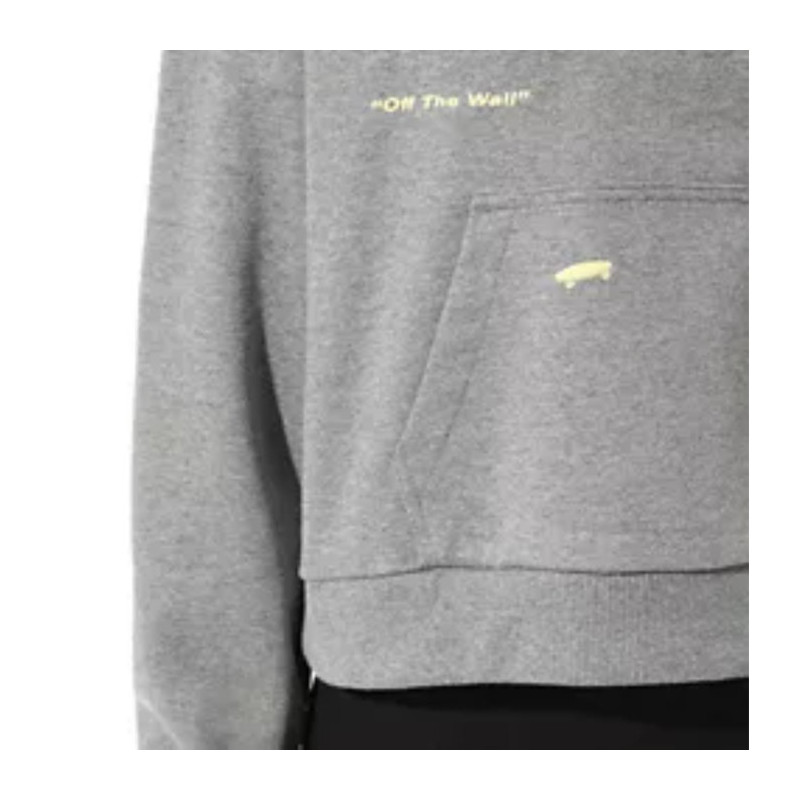 Sudadera Vans: WM KAYE CROP HOODIE (GREY HEATHER)