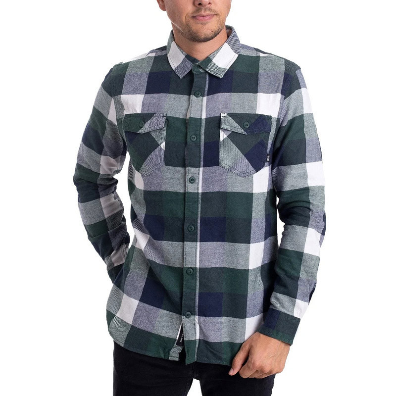 Camisa Vans: MN BOX FLANNEL (PINE NEEDLE DRESS BLUES)