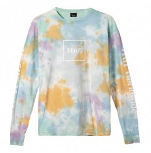 Camiseta HUF: PRISM WASH DOMESTIC LS TEE (WHITE) HUF - 1