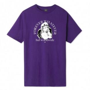 Camiseta HUF: FOREVER WHATEVER OMEN SS TEE (PURPLE) HUF - 1