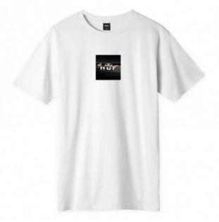 Camiseta HUF: VOYEUR LOGO SS TEE (WHITE) HUF - 1