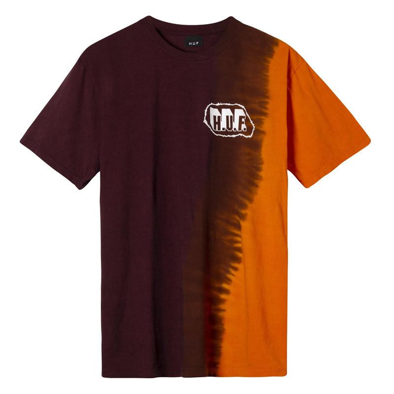 Camiseta HUF: AMP WASH SS TEE (BURGUNDY)