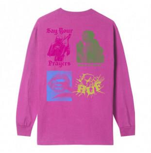 Camiseta HUF: DEJA VU LS TEE (CORAL) HUF - 1