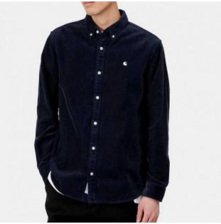 Camisa Carhartt: LS Madison Cord Shirt (Dark Navy Wax) Carhartt - 1