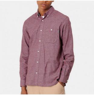 Camisa Carhartt: LS Corey Shirt (Bordeaux)