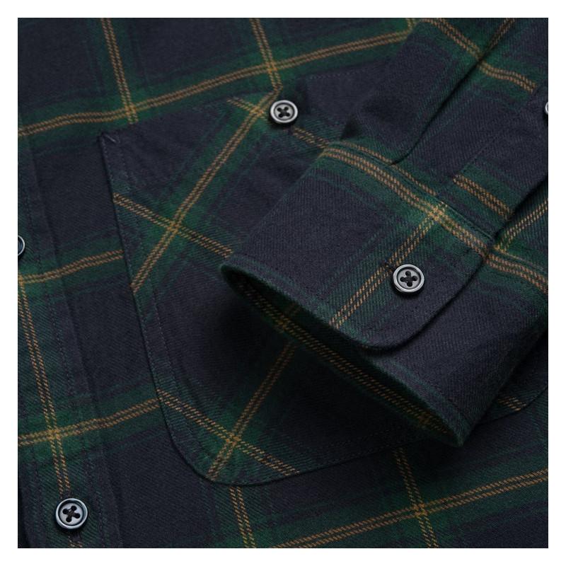 Camisa Carhartt: LS Darren Shirt (Darren Check Bott Green)