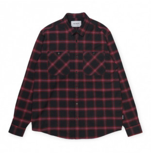 Camisa Carhartt: LS Darren Shirt (Darren Check Bordeaux) Carhartt - 1